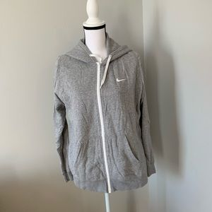 Nike grey hoodie with white accents